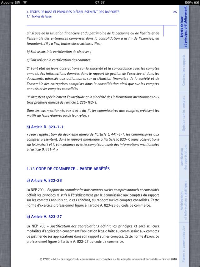 Lecture d'une NI sur l'iPad