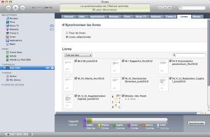 La synchro des PDF se fera dès que cette case Synchroniser les livres est cochée