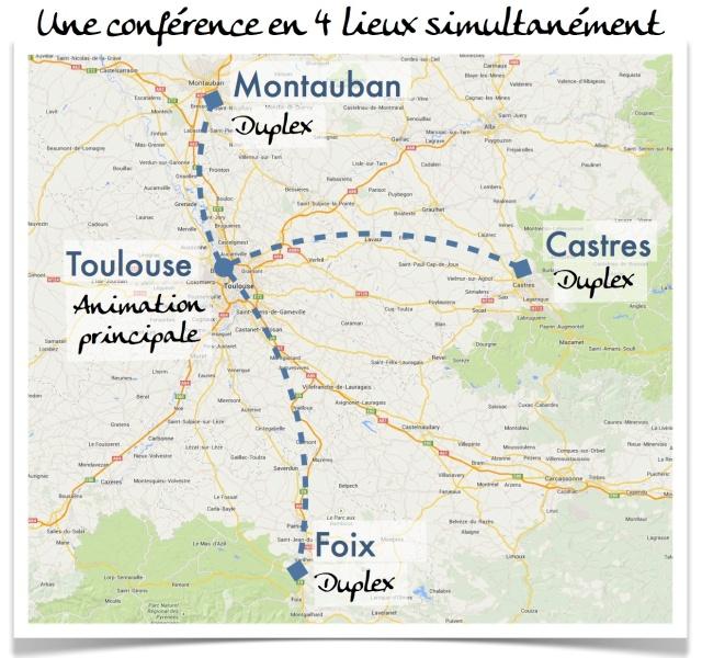 Animation à Toulouse et diffusion duplex vers Foix, Castres et Montauban