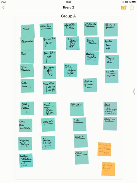The app creates a digital version of your post it. You can start reordering them and share them among other things.